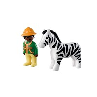 Playmobil 1.2.3 - Ranger with Zebra