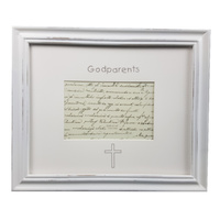 Godparents Photo Frame - White