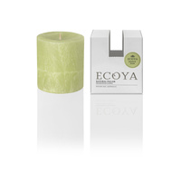 Ecoya Small Coloured Pillar Candle - French Pear