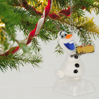 2019 Hallmark Keepsake Ornament - Disney Olaf's Frozen Adventure That Time of Year With Sound
