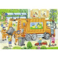 Ravensburger Puzzle 2x12pc - Garbage Disposal and Street Cleaning Underway