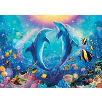 Ravensburger Puzzle 500pc - Dancing Dolphins