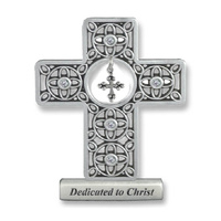 Dedicated to Christ Metal Cross