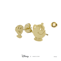 Disney x Short Story Earrings Mrs Potts and Chip - Gold