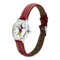 The Original Mickey Collection Watch - Silver + Croc Red 25mm