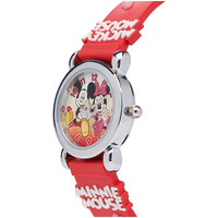 The Original Mickey Collection Watch - Mickey and Minnie Mouse Silver + Red