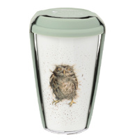 Royal Worcester Wrendale What a Hoot Owl Travel Mug