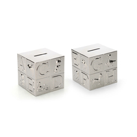 Whitehill Silver Plated Money Box - Alphabet Cube
