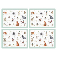 Pimpernel Wrendale Placemats - Set Of 4 Large