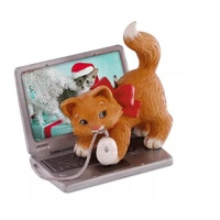 2016 Hallmark Keepsake Ornament - Mischievous Kittens Computer Mouse