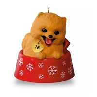 2016 Hallmark Keepsake Ornament - Puppy Love Pomeranian