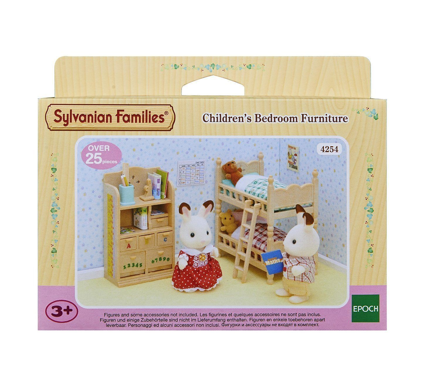 Sylvanian Families Childrens Bedroom Furniture Set Walnut Squirrel Family