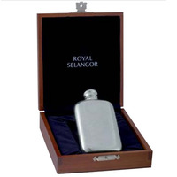 Royal Selangor Hip Flask In Wooden Gift Box - 95ml