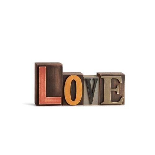 Timber Word Plaque - Love
