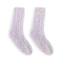 Demdaco Giving Fuzzy Socks - Light Purple
