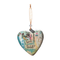Kelly Rae Roberts Hanging Ornament - Love Wide Heart