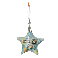 Kelly Rae Roberts Hanging Ornament - Dream Big Star Ornament