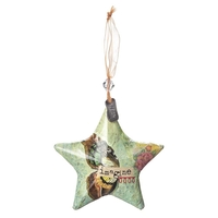 Kelly Rae Roberts Hanging Ornament - Imagine Star Ornament