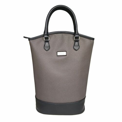 Sachi Insulated Two Bottle Wine Tote - Charcoal