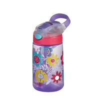 Contigo Kids Drink Bottle Gizmo Flip Autospout - 410ml Flowers