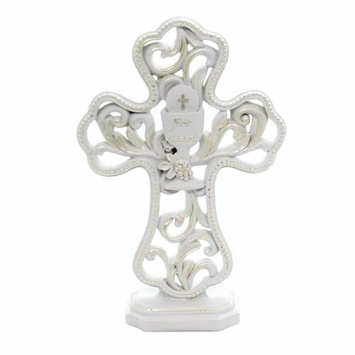 Roman Inc First Holy Communion Table Cross