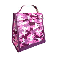 Sachi Insulated Kids Lunch Pouch - Camo Pink
