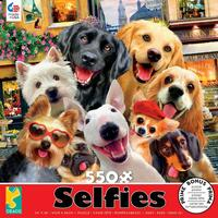 Thomas Kinkade Selfies 550pc Puzzle - Dogs In Paris