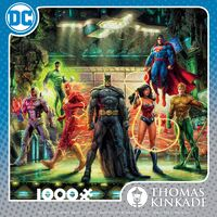 Thomas Kinkade Dc Comics 1000pc Puzzle - The Justice League