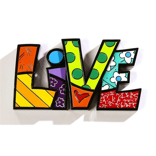 Romero Britto Large Decor Words - Live