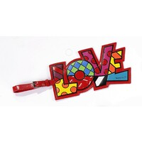 Romero Britto Luggage Tag - Love