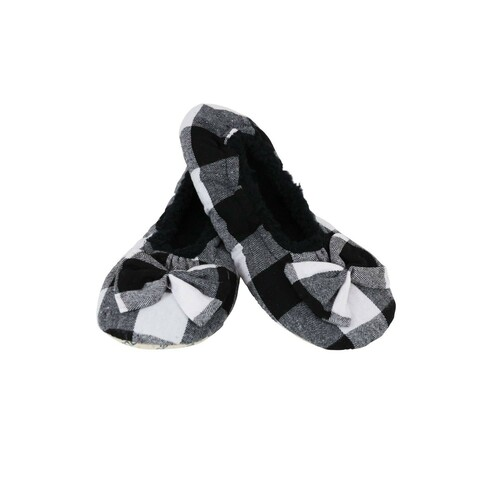 Slumbies Ladies Plaid - White