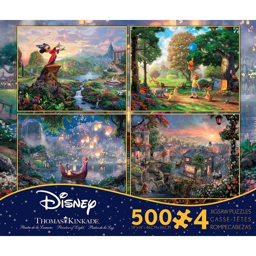 Thomas Kinkade Disney 4 x 500pc - V3