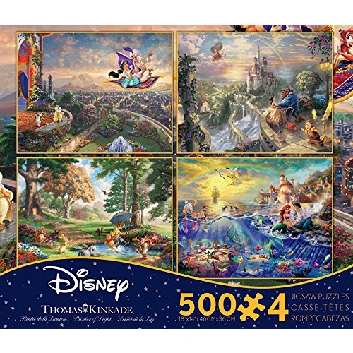 Thomas Kinkade Disney 4 x 500pc - V4