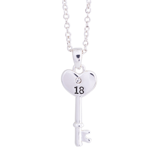 Equilibrium 18th Heart Key Necklace