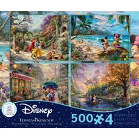Thomas Kinkade Disney 4 x 500pc - V6