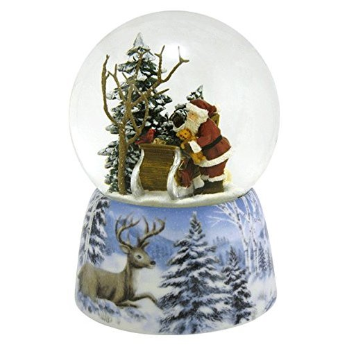 Roman Inc - Here Come Santa Clause Musical Snow Globe