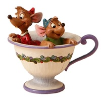 Jim Shore Disney Traditions - Jaq And Gus In Teacup Figurine