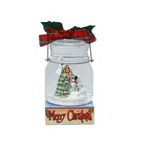Jim Shore Heartwood Creek - Snowman With Scene Mason Jar Waterball