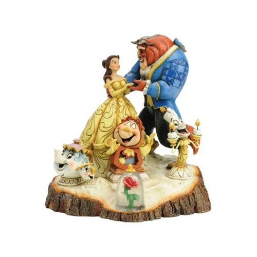 Jim Shore Disney Traditions - Beauty And The Beast Carved by Heart Figurine
