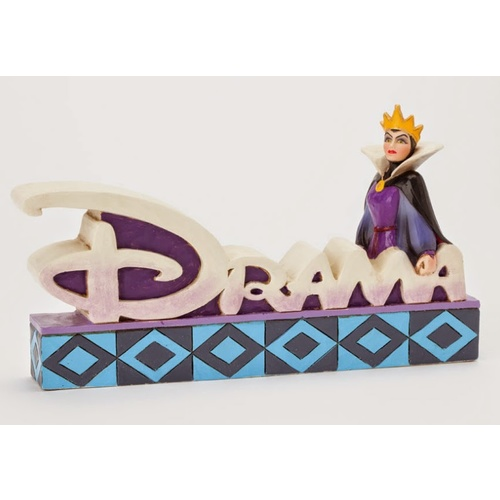 Jim Shore Disney Traditions - Evil Queen Drama Word Figurine