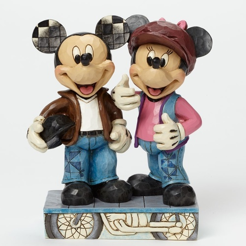 Jim Shore Disney Traditions - Mickey And Minnie Biking Sweethearts Figurine