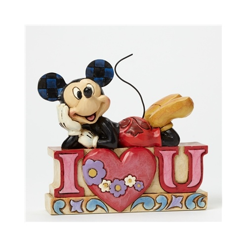 Jim Shore Disney Traditions - Mickey Mouse I Love You Figurine