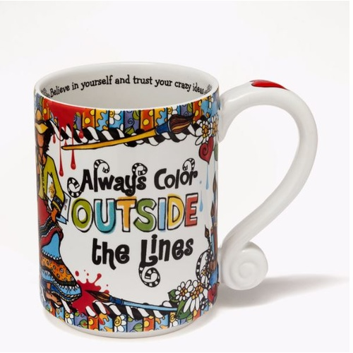 Suzy Toronto Mug - Always Color Outside the Lines