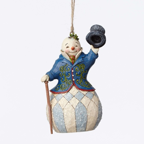 PRE PRODUCTION SAMPLE - Heartwood Creek Victorian Collection  - Victorian Snowman Hanging Ornament