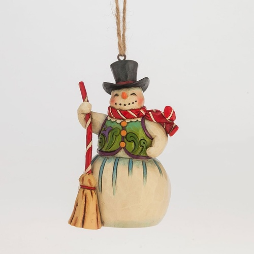 PRE PRODCUTION SAMPLE - Heartwood Creek Hanging Ornament Collection  - Mini Snowman with Broom