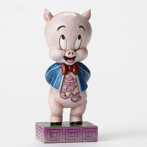 Jim Shore Looney Tunes Collection Porky Pig - Its P-P-P-Porky Figurine