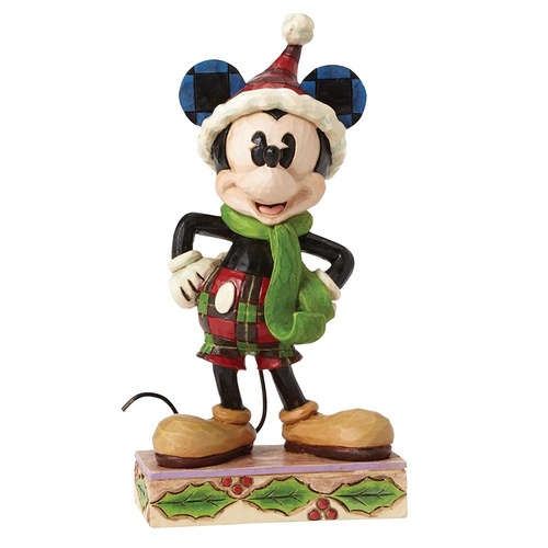 Jim Shore Disney Traditions - Merry Mickey Mouse Personality Pose
