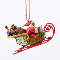 Heartwood Creek Classic - Santa in Sleigh Hanging Ornament