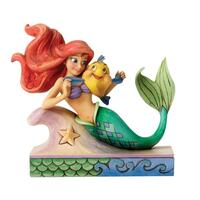 Jim Shore Disney Traditions - Ariel with Flounder Fun and Friends Figurine