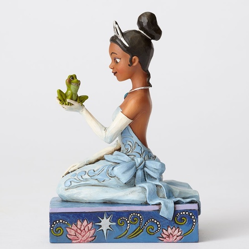 Jim Shore Disney Traditions - Tiana with Frog Resilient and Romantic Figurine